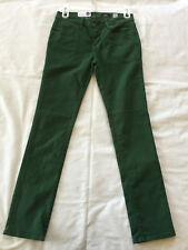 Volcom Youth Riser Jean Slim Tapered Leg Road Tested Green Stretch Jeans 27 (14)