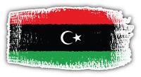 Libya Brushstroke Flag Car Bumper Sticker Decal 6'' x 3''