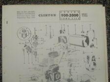 CLINTON ENGINE 900-2000 Long Life Series Parts Catalog 1958 & Variations
