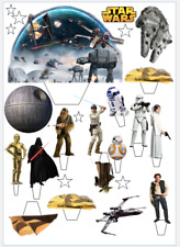 Star Wars Stand Up Cake Scene Edible Wafer Card Cake Topper-Easy To use Pre-Cut