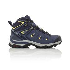 Salomon X Ultra 3 Mid GTX Wide (D) Women's Hiking Boot - Crown Blue/Evening Blue