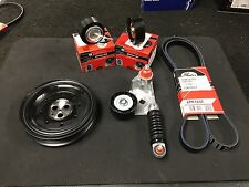 JAGUAR X TYPE ALTENATOR BELT TENSIONER KIT WITH CRANKSHAFT CRANK SHAFT PULLEY