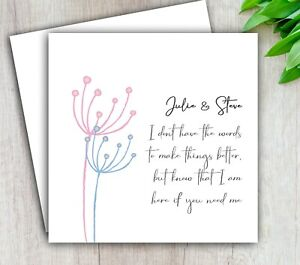 Personalised Thinking Of You Card, Divorce Illness Cancer Bereavement Sympathy