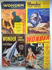 Wonder Story Annuals 1950-53 first 4 editions ASIMOV vintage pulp fiction comics