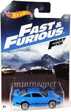 HOT WHEELS DWF68-999A FAST AND FURIOUS FIVE 5 PORSCHE 911 GT3 RS 1/64 DWF74 BLUE