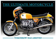 BMW R90S Motorcycle Tin Metal Wall Art Sign / Plaque