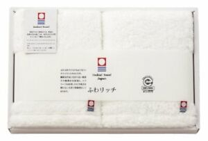 Japanese Imabari Face Towel 2pcs set Cotton 100% 80 x 34cm White Made in JAPAN
