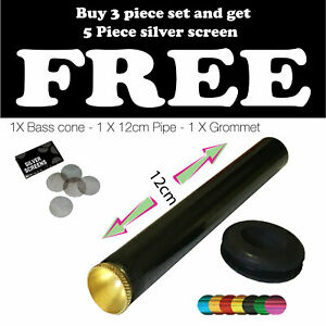 3 piece Bonza Pipe with  cone pieces and grommet for Bong or water pipe