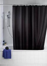 Rideau de douche en tissu 240 x 200 UNI NOIR + Anneaux