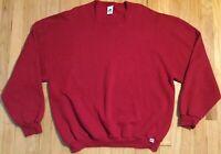 Vintage RUSSELL ATHLETIC sweatshirt 2XL red crewneck 90s XXL long sleeve blank