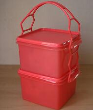 TUPPERWARE Square Keeper Goody Box Guava Color 2 L New