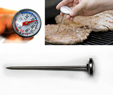 MEAT THERMOMETER ROAST BEEF TURKEY BBQ OVEN TEMPERATURE PROBE PROF. COOK TOOL