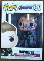 JEREMY RENNER AUTOGRAPHED HAWKEYE FUNKO POP #457 - MARVEL THE AVENGERS
