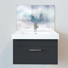 Bathroom Acrylic Splashbacks - Sink Splashbacks - By Premier Range - White Waves
