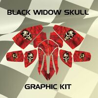 Honda TRX250EX TRX 250EX 2005 Black Widow Skull Graphic Kits