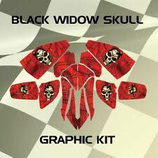 Bombardier DS650 DS 650 Black Widow Skull Graphic Kits