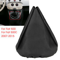 Gear Stick Shift Gaiter Boot Cover Sleeve PU Leather For Fiat 500 500C 2007-2015