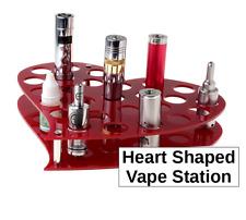 Heart Shaped Vape Station Acrylic Display Vapor Stand A tomizer Mod e Pen Cig
