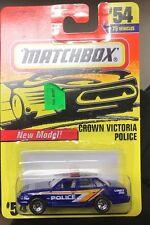 MATCHBOX CROWN VICTORIA POLICE #54 NIP