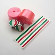 70 S Benotto style, rose brillant Giro d'Italia Bar Tape, Italie Bar Plugs, Trim Tape