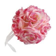 Bouquets De Tête Fleur Rose Artificielle Soie Mariage Cadeau de Saint Valentin