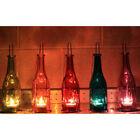 Recycled Glass Bottle Lantern candle tea-light holders ~ Garden outdoor light ~