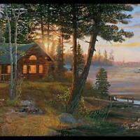 York Wallcoverings Lake Forest Lodge CH7842BD Cabin Fever Border, Multi Black