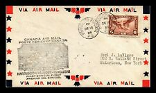 Dr Jim Stamps Harrington Harbor Rimouski Airmail First Flight Canada Cover