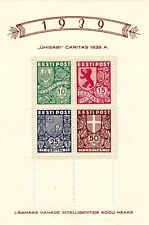 ESTONIA  - B44a - MNH B41 - B44 SOUVENIR SHEET S/S  - LOOK!