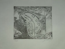Limited edition etching, Surrealism Watch, signed Salvador Dali w DOCS