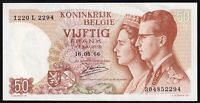 1966 | Belgium 50 Francs Banknote | Banknotes | KM Coins