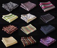 MK Check Paisley Stripe Men Silk Pocket Square Hanky Wedding Handkerchief