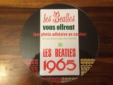 MEGA RARE FRENCH BEATLES FRONT INSERT FOR THE LP LES BEATLES 1965 ODEON OSX 228