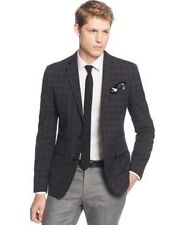 Bar iii Black Charcoal Mens Size 42S Two Button Tonal Check Jacket $375