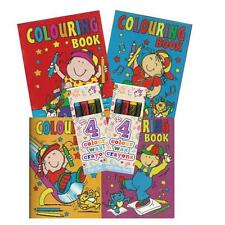 A6 Colouring Books & Crayons Party Bag Fillers Wedding Activity Favours Toys