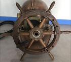 Ussr Soviet fishing vessel steering wheel ship helm