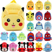Baby Kid Boy Girl Cartoon Plush Backpack Schoolbag Shoulder Rucksack Toddler Bag