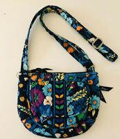 Vera Bradley Clare Midnight Blues Quilted Cotton Crossbody Hipster Shoulder Bag