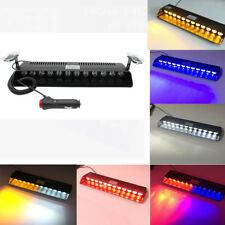 12 LED Car Emergency Strobe Light Bar Police Warning Flash Visor Deck Dash Lamp