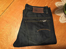 G-STAR RAW 3301 LOOSE FIT DARK WASH STRAIGHT CUT JEANS 30 X 32 VERY NICE!