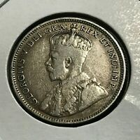 1912 NEWFOUNDLAND CANADA 20 CENTS STERLING SILVER COIN