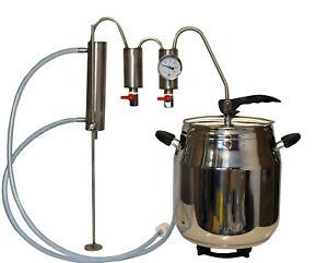 Destille Destillieranlage Schnellkochtopf 7 Liter  Kühler Thermometer