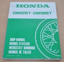 Honda CM125T CM185T Getriebe Vergaser Elektr Zylinder Kupplung Werkstatthandbuch