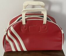New listing VINTAGE PETERS BOWLING BAG GYM BAG RED WHITE NO RESERVE!!! FREE SHIPPING!!!