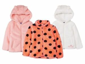 Kids' Girls Fleece Jacket Zip Hoodies Pockets Cute Ears Soft 12m 2 3 4 5 6 Years