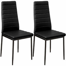 2 Modern Dining Chairs Dining Room Chair Table Faux Leather Furniture Cozy Black