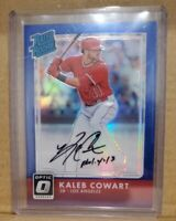 KALEB COWART 2016 DONRUSS OPTIC RATED ROOKIE PRIZM AUTO CARD 75/75