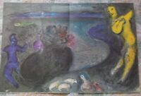 """Marc Chagall  """" Daphnis and Chloe """" Captain Bryaxis' Dream Large Lithograph 1977"""