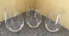 Williams-Sonoma Open Kitchen Stemless Red Wine Glasses (3)