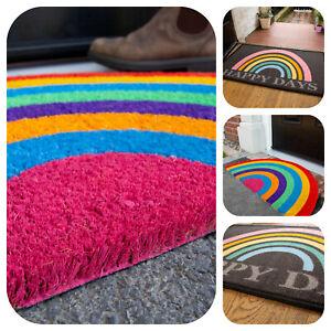 Rainbow Doormats Coir Outdoor Mat & Washable Indoor Mat Non Slip Durable Mats UK